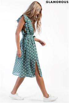 Glamorous Polka Dot Midi Dress