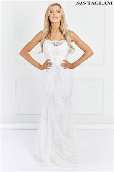 Sistaglam Lace Embellished Maxi Dress
