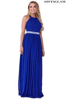 Sistaglam Maxi Dress With Embellished Waistband