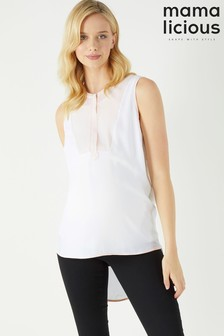 Mamalicious Maternity Nancy Lia Woven Nursing Blouse