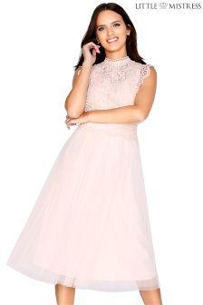Little Mistress Lace Skater Dress