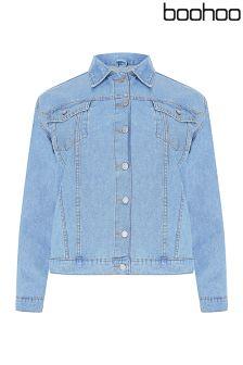 Boohoo Plus Oversized Denim Boyfriend Jacket