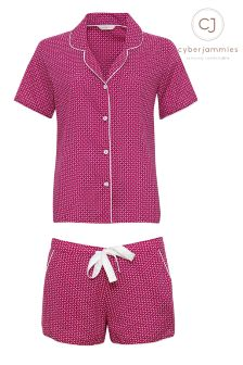 Cyberjammies Geo Print Top And Shorts PJ Set