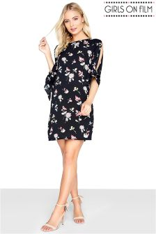 Girls On Film Floral Printed Shift Dress