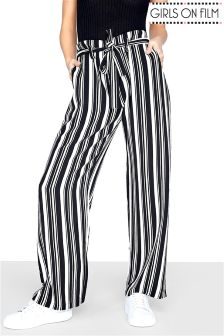 Girls On Film Stripe Trousers