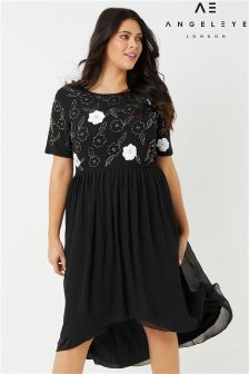 Angeleye Curve High Low Embellished Dress