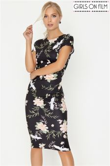 Girls On Film Printed Bodycon Dress