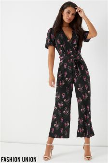 Fashion Union Printed Jumpsuit