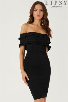 Lipsy Bardot Ruffle Dress