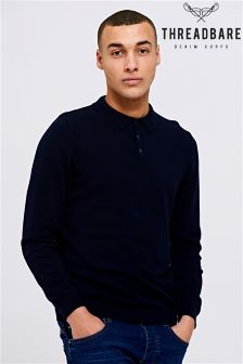 Threadbare Hart Long Sleeve Polo Tee