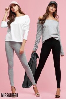 Missguided Jersey Leggings 2 Pack