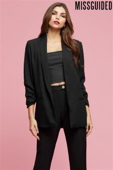 Missguided Longline Black Blazer