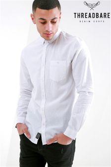 Threadbare Long Sleeve Linen Blend Shirt