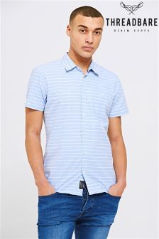 Threadbare Striped Short Sleeve Shirt