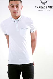Threadbare White Polo T-Shirt