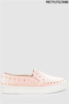 PrettyLittleThing Studded Slip On Trainers
