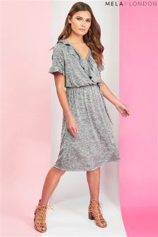Mela London Frill Wrap Front Dress