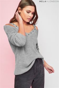 Mela London Cold Shoulder Stud Jumper