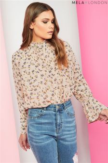 Mela London Printed High Neck Blouse