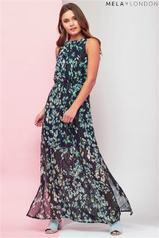 Mela London Printed High Neck Maxi Dress