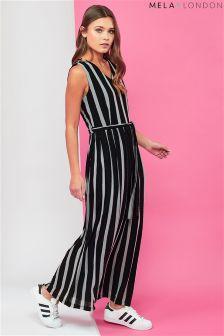 Mela London Striped V neck Maxi Dress