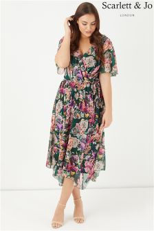 Scarlett & Jo Floral Print Wrap Dress