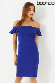 Boohoo Bardot Bodycon Dress