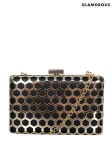 Glamorous Honeycomb Metal Clutch Bag
