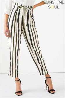 Sunshine Soul Multi Stripe Palazzo Trousers