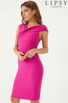 Lipsy Asymmetric Neck Bodycon Dress