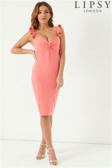 Lipsy Knot Front Bodycon Dress
