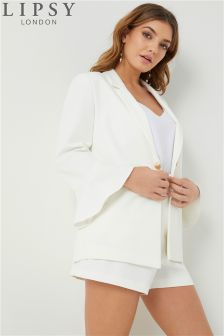 Lipsy Tailored Frill Sleeve Blazer