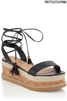 PrettyLittleThing Espadrille Flatform Sandals