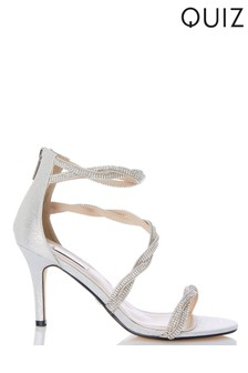 Quiz Diamanté Twist Helled Sandal