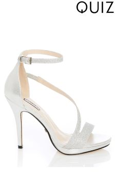 Quiz Crossover Heeled Sandals
