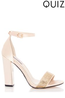 Quiz Sequin Heeled Sandals