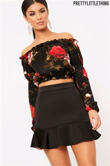 PrettyLittleThing Verity Flippy Hem Mini Skirt