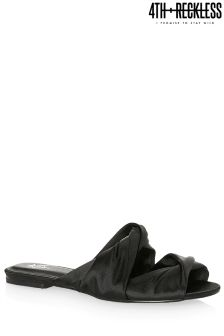 4th & Reckless Rouched Satin Mules