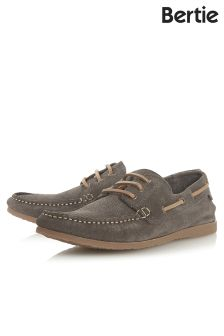 Bertie Printed Suede Boat Shoe