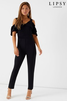 Lipsy Cold Shoulder Wide Leg Jumpsuit