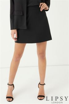 Lipsy A line Zip Back Mini Skirt