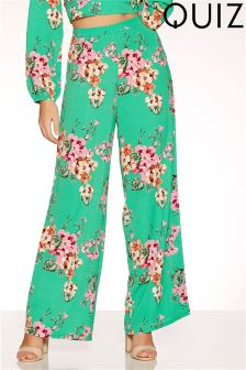 Quiz Blossom Print Palazzo Trousers