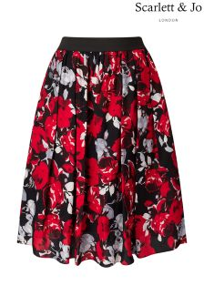 Scarlett & Jo Rose Print Full Skirt