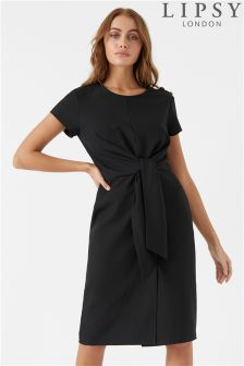 Lipsy Knot Front Button Detail Dress