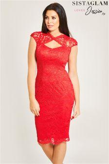 Jessica Wright Lace Midi Dress