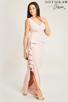 Jessica Wright Side Frill Maxi Dress