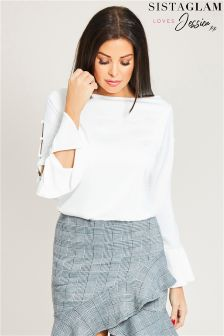 Jessica Wright Side Button Top
