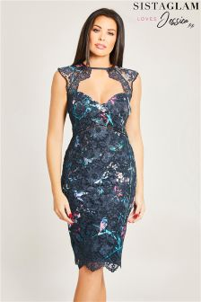 Jessica Wright Floral Print Midi Bodycon Dress