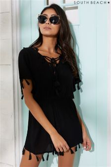 South Beach Lace Up Front Playsuit