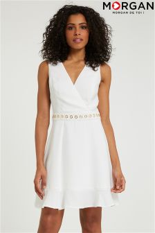 Morgan Skater Dress With Eyelet Details